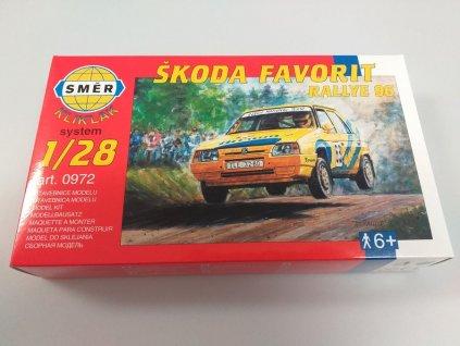 Škoda Favorit Barum Rallye 1996 žlutý stavebnice 1:28 Směr