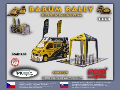 Barum rally historic racing team Renault Trafic caravan