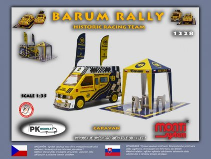 Barum rally historic racing team Renault Trafic caravan