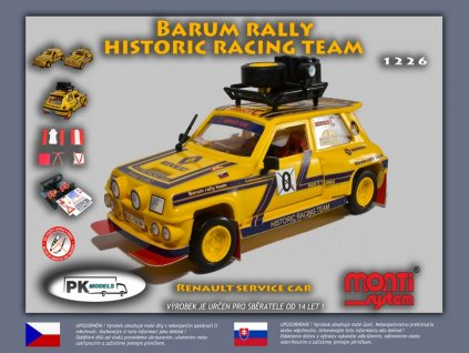 Renault R5 service car Barum rally historic team