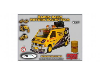 Renault Trafic service car Barum rally historic racing team