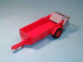 Rozmetadlo RUR-5 k traktoru ZETOR Crystal 12045 - stavebnice 1:43 - červená