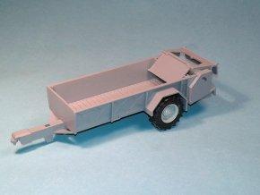 Rozmetadlo RUR-5 k traktoru ZETOR Crystal 12045 - stavebnice 1:43 - šedá