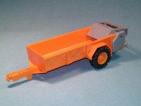 Rozmetadlo RUR-5 k traktoru ZETOR Crystal 12045 - stavebnice 1:43 - oranžová