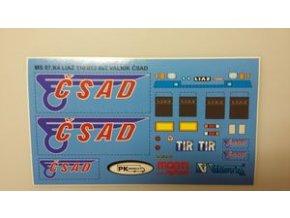 Aršík polepů MS 07.K4 Liaz valník ČSAD modré provedení