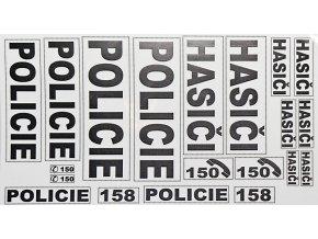 Hasiči - Policie samolepky černé provedení