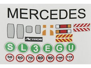 Mercedes Actros samolepky Monti system