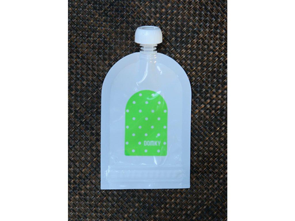 Klasická kapsička - puntík zelený