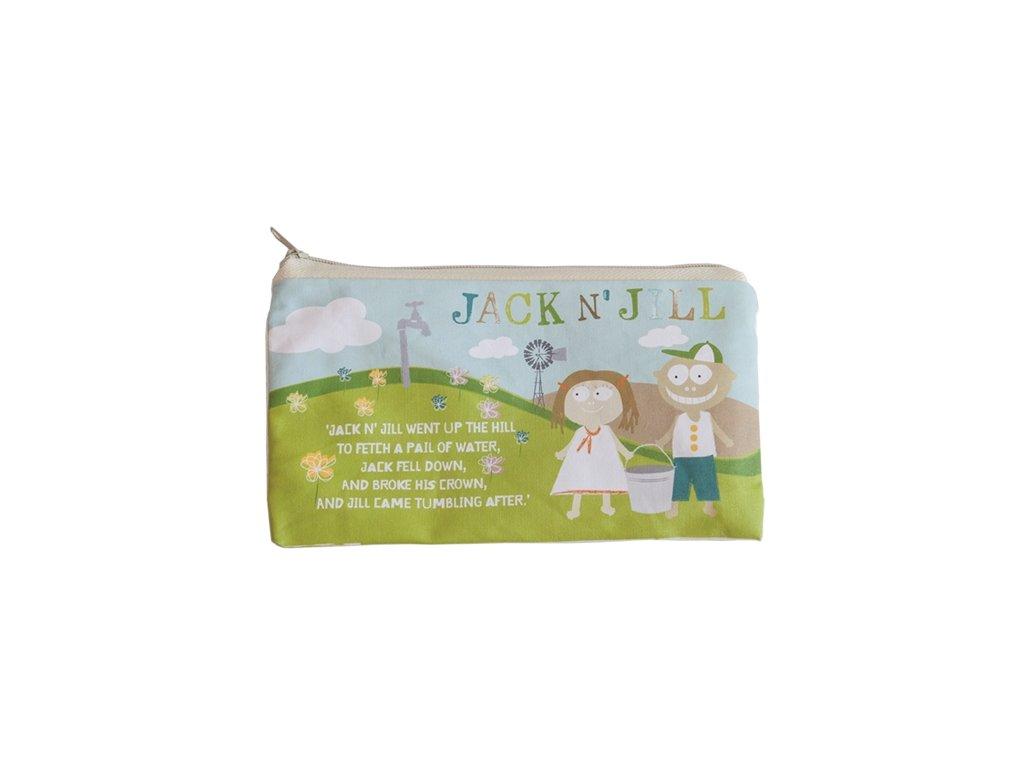 Kapsička na zip - přírodní bavlna