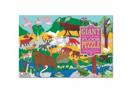 EB PZGWA Podlahové puzzle Lesní zvířata 48 maxi dílků
