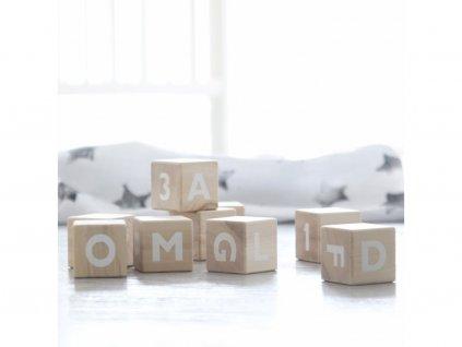 3856 drevene kostky abeceda ooh noo bile