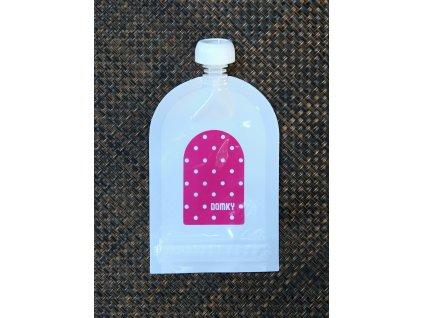 Klasická kapsička - puntík růžový