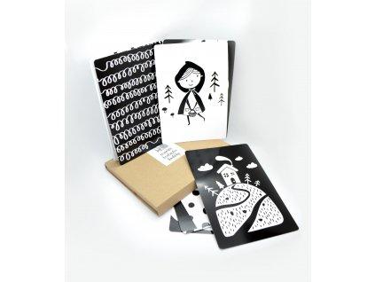 Kontrastní černo-bílé kartičky