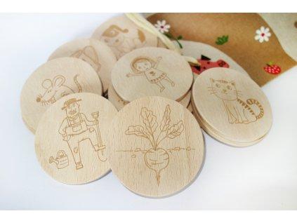 Dřevěné pexeso/Řepa