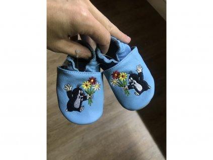 Capáčky baBice Blue flowers mole
