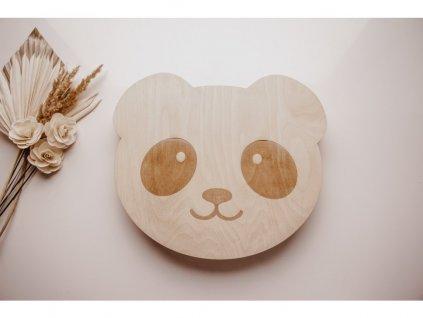 4940 5 drevena nastenna lampicka panda