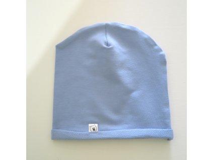 Čepice světle modrá