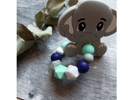 Kousátko velké na kroužku  - Slon šedý