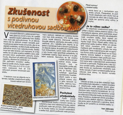 Lesní houby na zahradě: pravda nebo obchodní trik?
