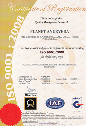 ISO_9001-2008_Certificate_Planet_Ayurveda_20151
