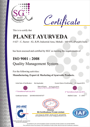 Planet_Ayurveda_ISO_cerrtificate