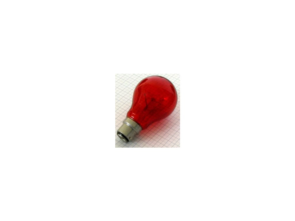 Žiarovka 230V 60W B22D ST2072C červená-krb 60x103mm