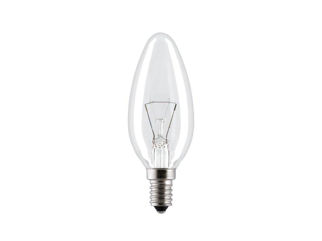 Žiarovka 130V 60W E14 FD1052 sviečka-číra 35x100mm