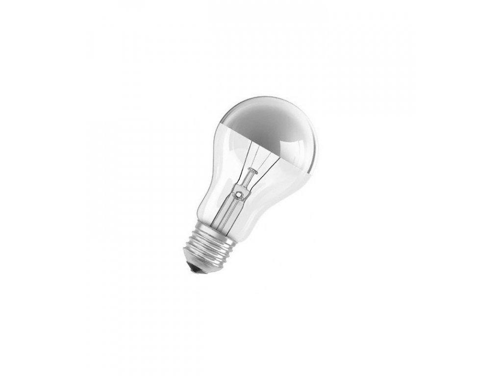 Žiarovka 230V 60W E27 zrkadlo-strieborná