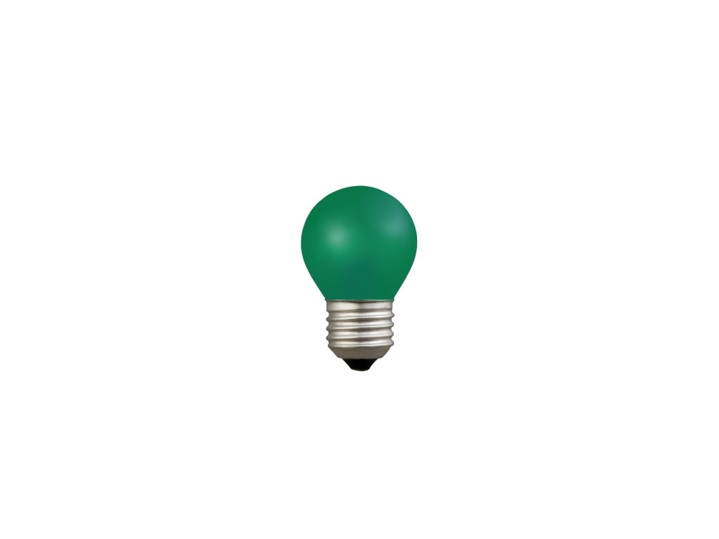 Orbitec Žiarovka 230V 15W E27 zelená malá 45x70mm