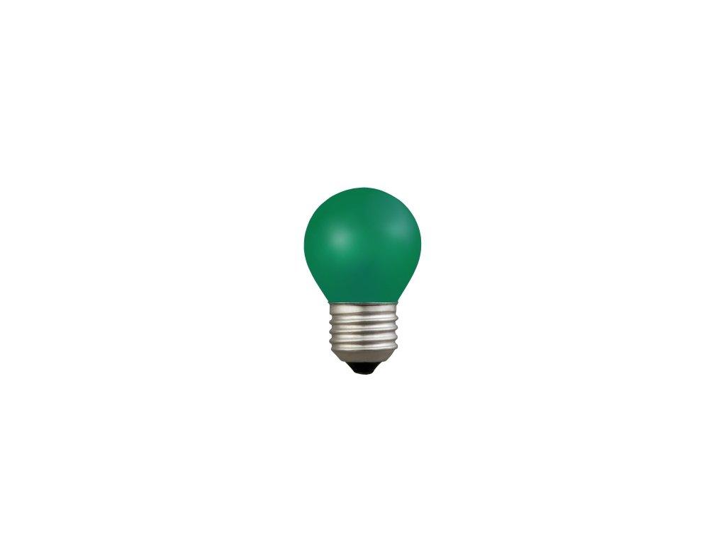 Žiarovka 230V 15W E27 zelená malá 45x70mm