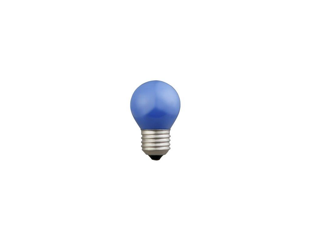Žiarovka 230V 15W E27 modrá malá 45x70mm