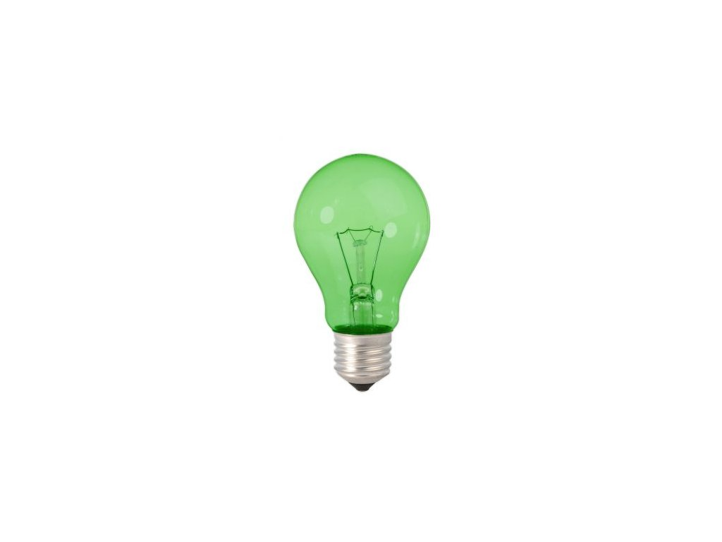Žiarovka 240V 25W E27  zelená 45x70mm