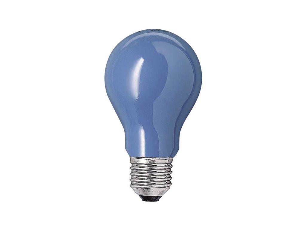 Žiarovka 240V 25W E27  modrá 45x70mm