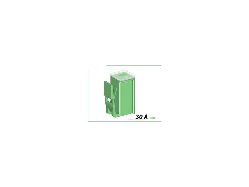 MTA Poistka do japonských vozidiel 30A - MINICLIP - zelená