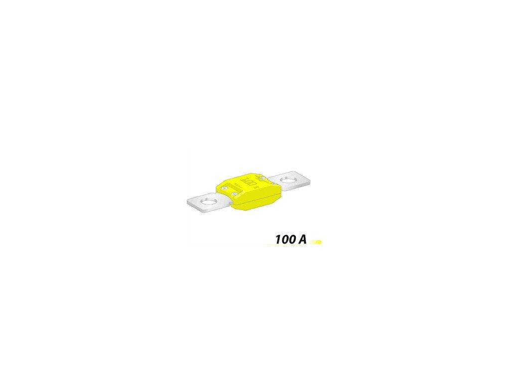 Poistka MEGA 50,8mm- 100A - žltá