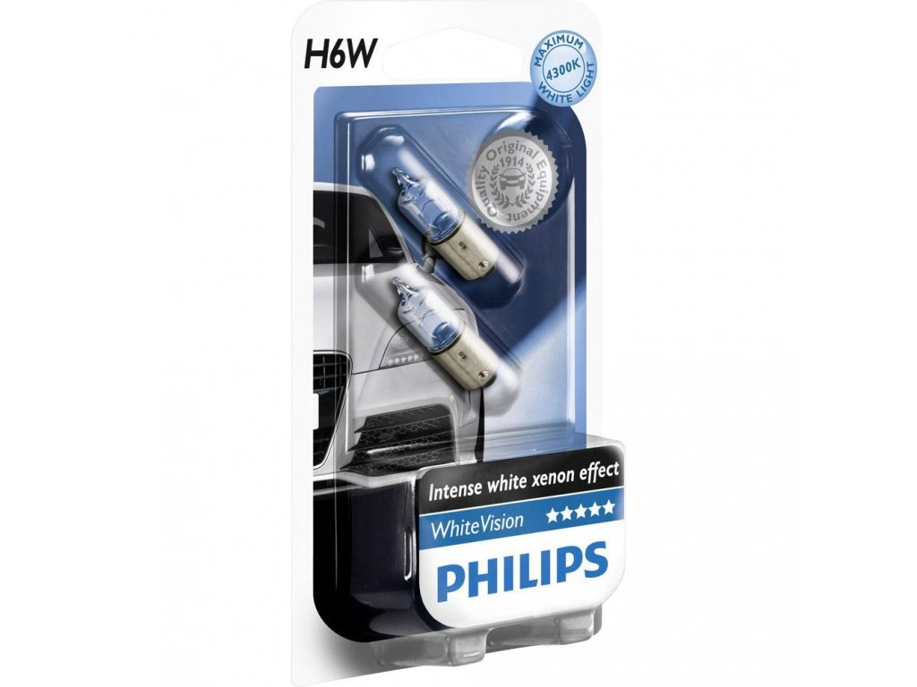 Philips WhiteVision 12V 6W BAX9s H6W - set 2ks