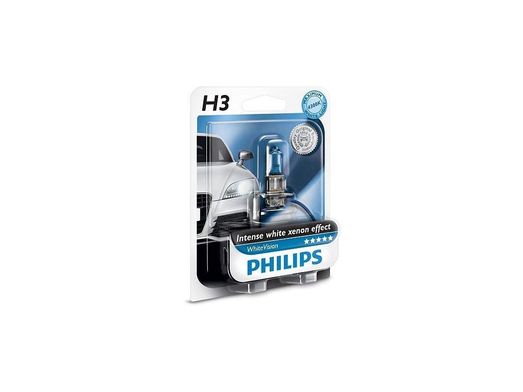 PHILIPS Žiarovka 12V H3 55W PK22s WhiteVision - blister 1ks