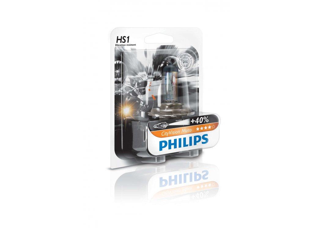 PHILIPS Žiarovka 12V 35/35W PX43t HS1 CityVision Moto