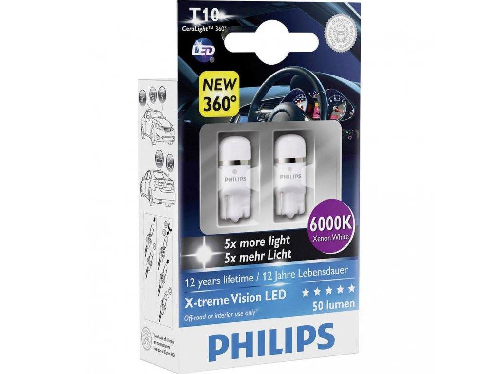 PHILIPS LED X-tremeUltinon - W2,1X9,5D - 1W- 6000K daylight effect