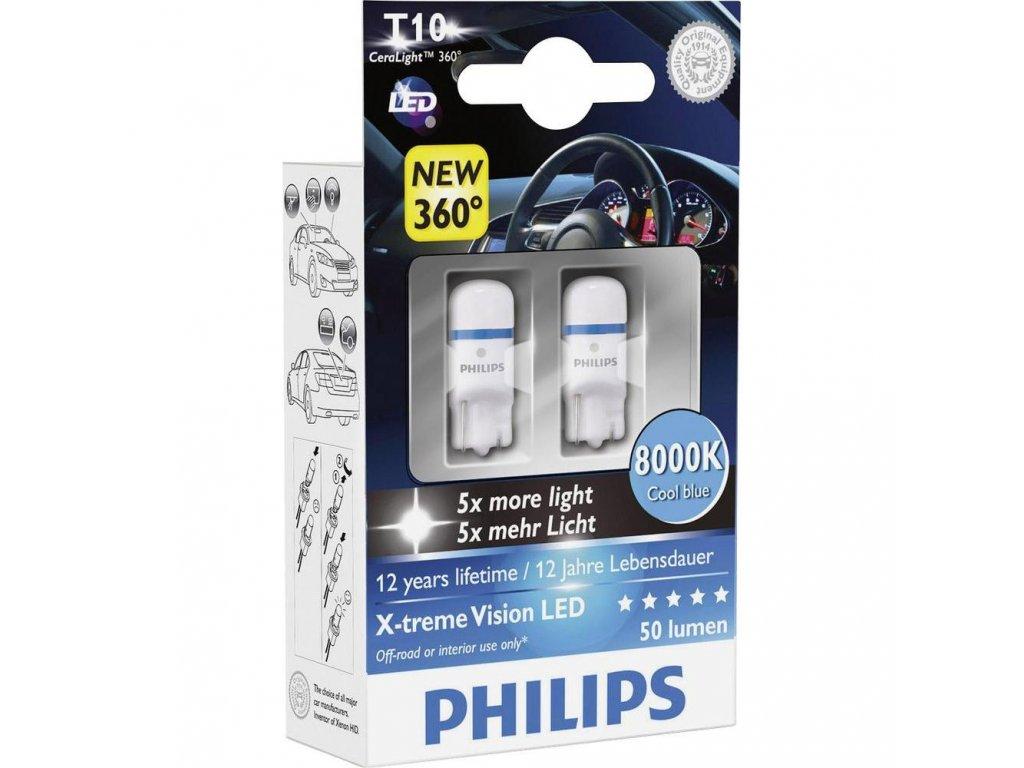 PHILIPS LED X-treme Vision - W2,1X9,5D - 1W- 8000K