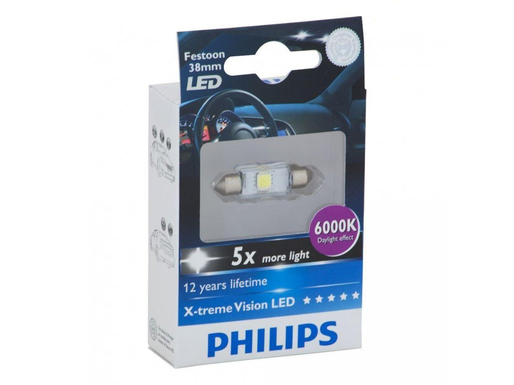 LED BlueVision-sufit SV10,5x38 - 1W-2LED- 6000K