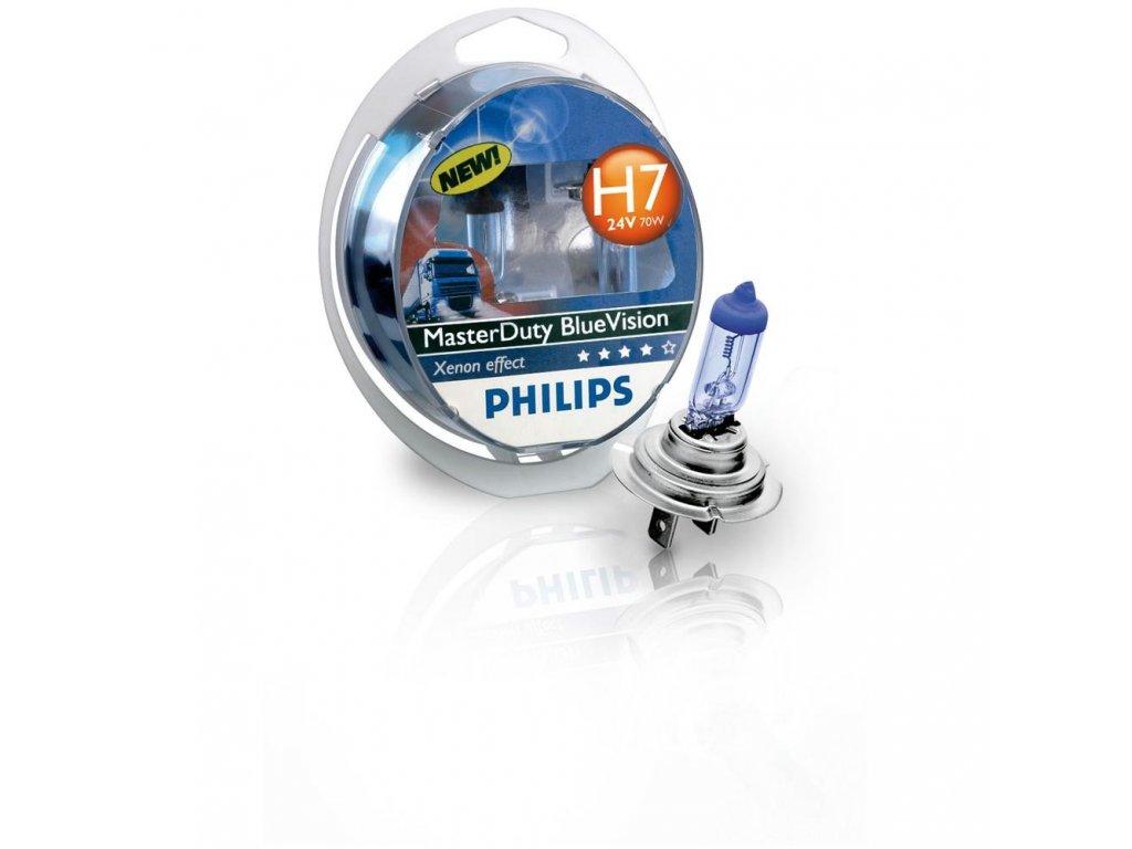 PHILIPS Žiarovka 24V H7 70W PX26d MasterDuty BlueVision - set2ks