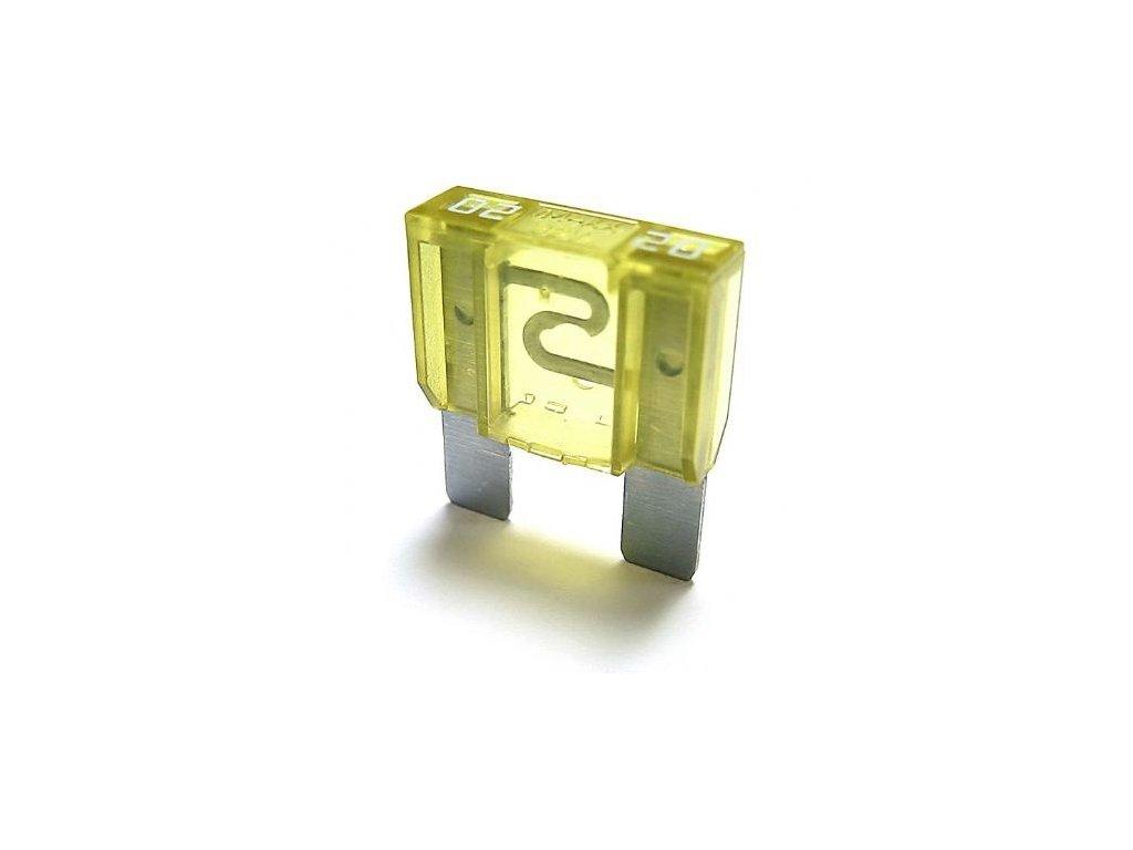 Maxi-nožová poistka 20A - žltá