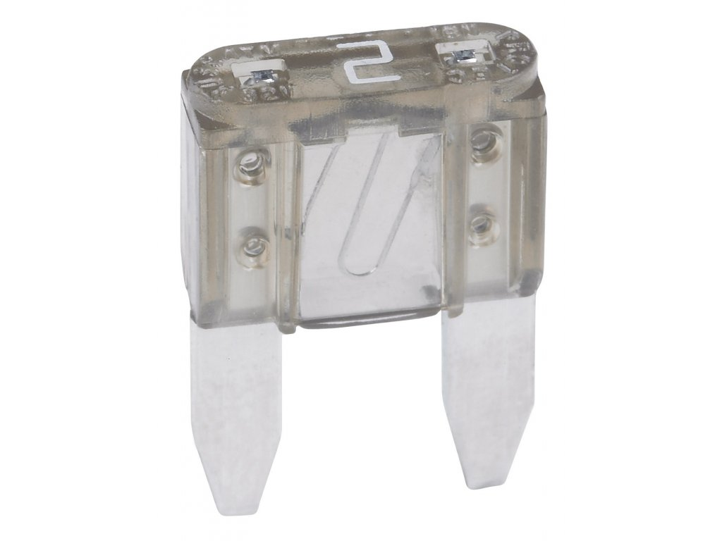 Mini-nožová poistka 2A - šedá
