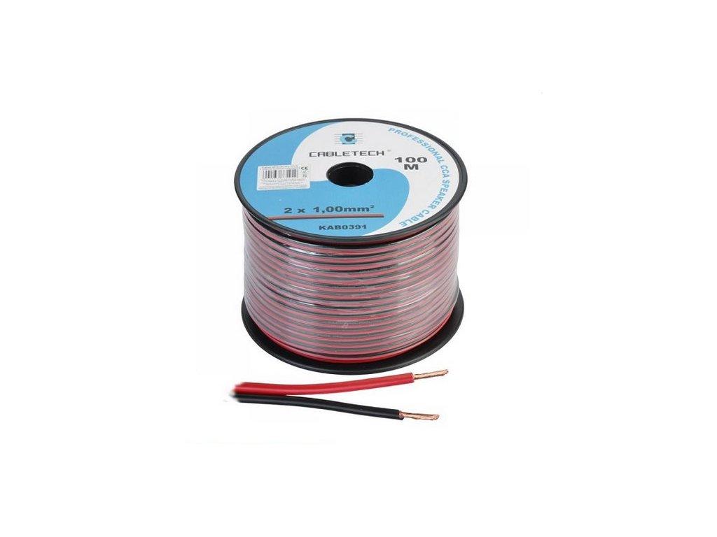 Kábel dvojžilový 1,00mm,červeno-čierny