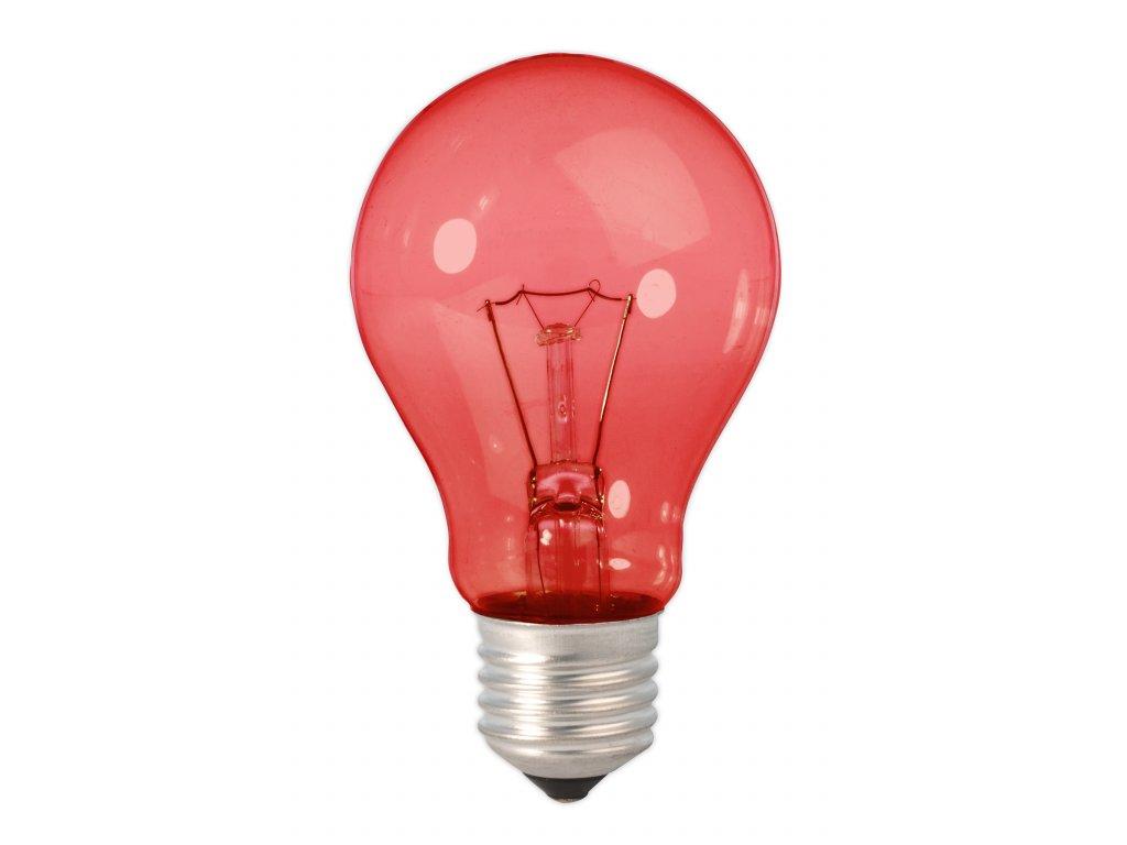 Žiarovka 240V 15W E27 červená 60x103mm