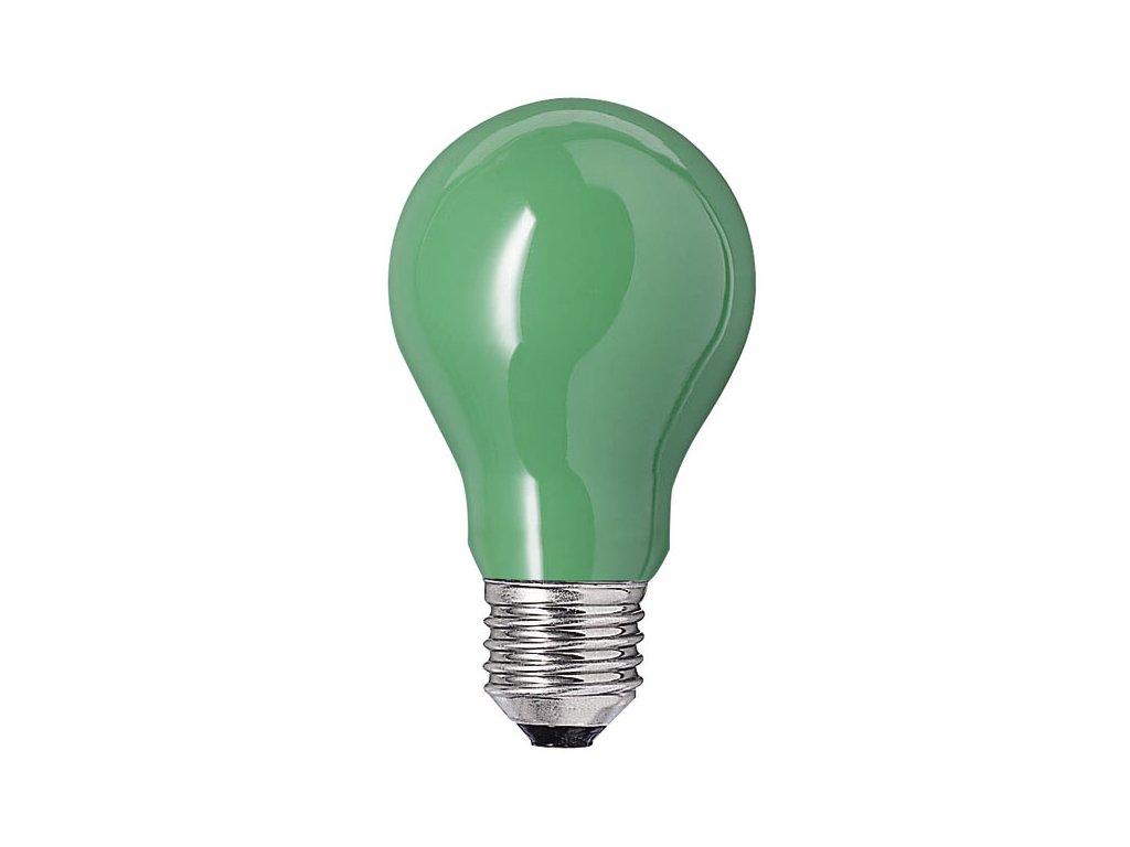 NARVA BEL Žiarovka 240V 15W E27 zelená 60x103mm