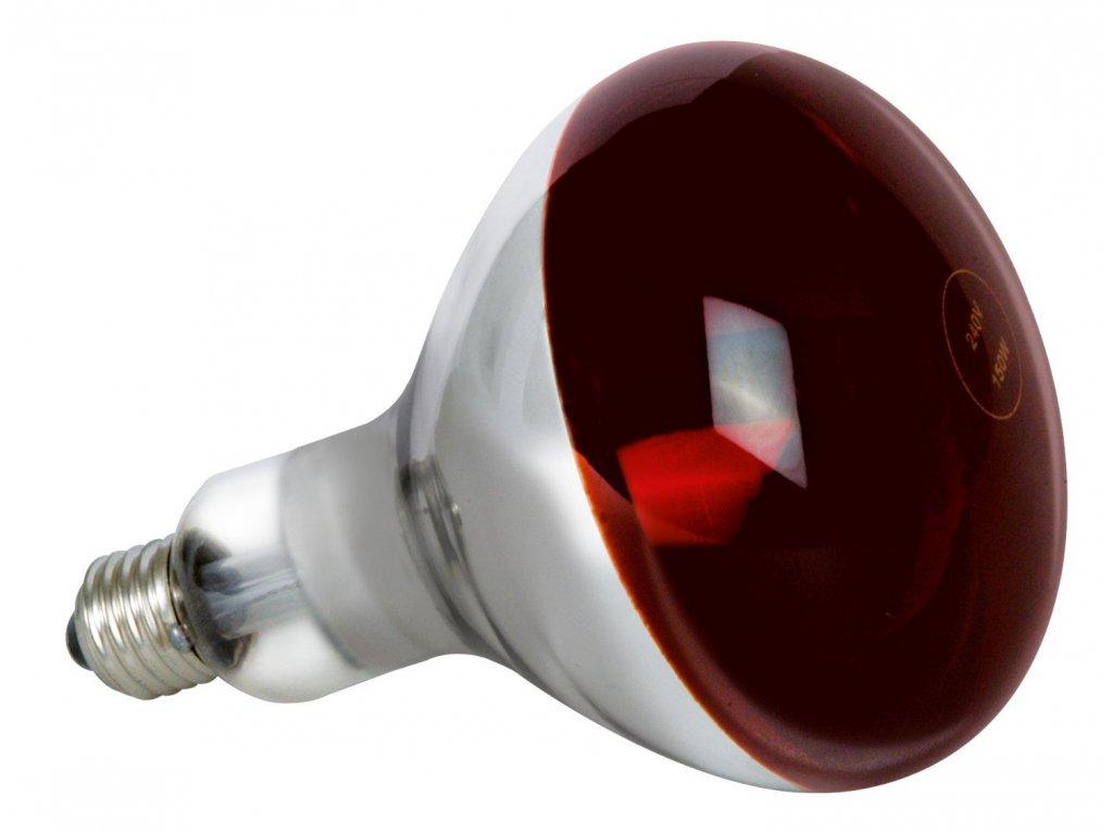 Žiarovka 240V 150W E27 infrarubín
