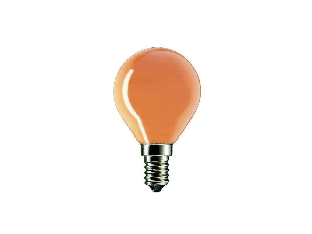 Žiarovka 240V 40W E14 iluminačná-oranžová 46x75mm
