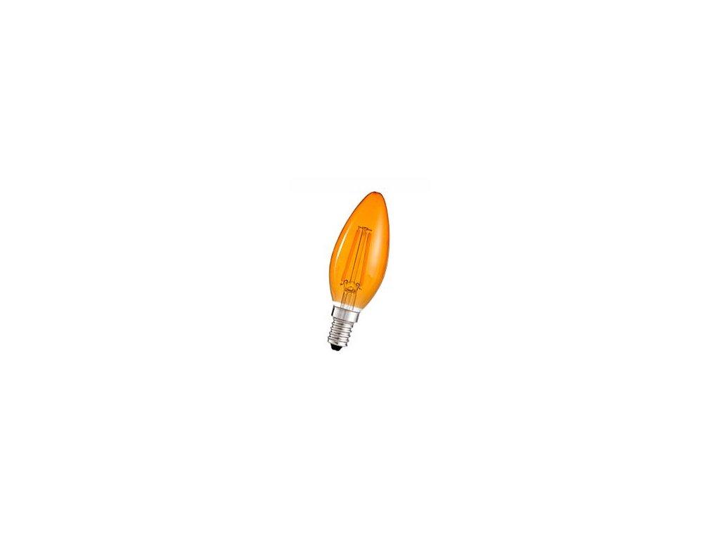 Žiarovka 240V 40W E14 sviečka-oranžová